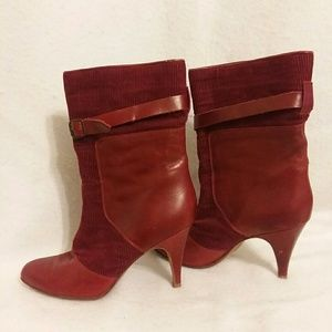 Anthropology Candela Collection Red Boots size 5.5